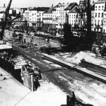 Travaux du Second Voûtement de la Senne, en 1955  – Collection Vivaqua